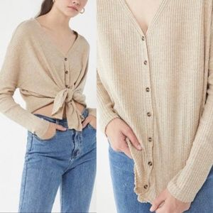 UO Out From Under Sz XS Tan Jojo thermal top